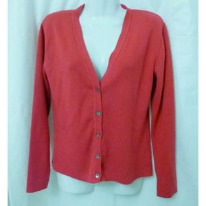 Women Sweater Size S Long Sleeve Pink Laura Leigh
